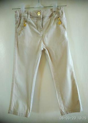 Катоновые штаны для девочки 92-98 рост