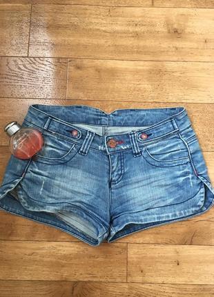 Ультра короткие джинсовые шорты