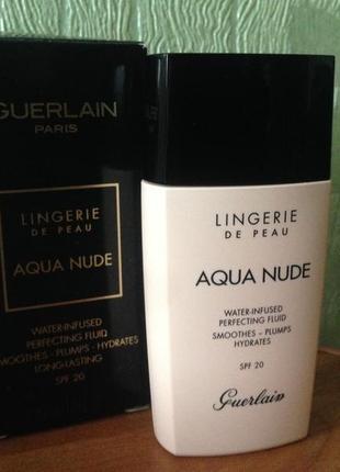 Guerlain lingerie de peau aqua nude увлажняющий тональный флюид