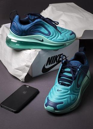 Nike air max 720 шикарные женские кроссовки найк бирюзовые (весна-лето-осень)😍