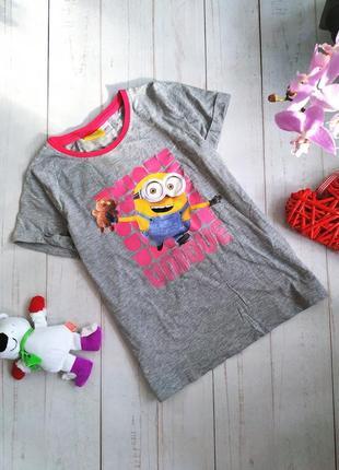 Хлопковая футболка с миньоном.1 фото