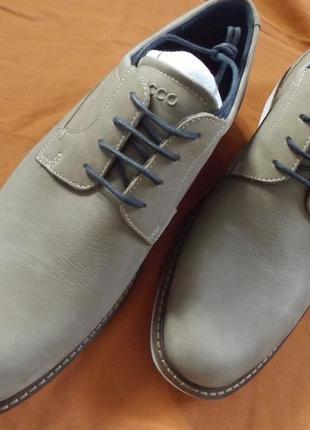 Оригинал ecco туфли ессо полуботинки кросовки, кеды кажаные