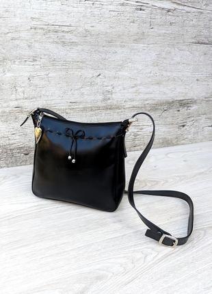 Lancaster paris кожаная сумка кросс боди / на плечо франция 100% натуральная кожа