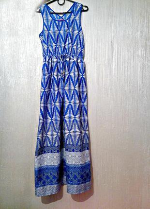 Платье в пол yd бренда в принт длинное лето тренд