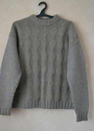 Большой свитер крупной вязки / женский_мужской