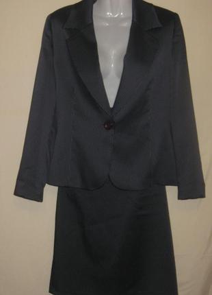 Костюм женский деловой, пиджак и юбка. 40-42 р-р. см  замеры