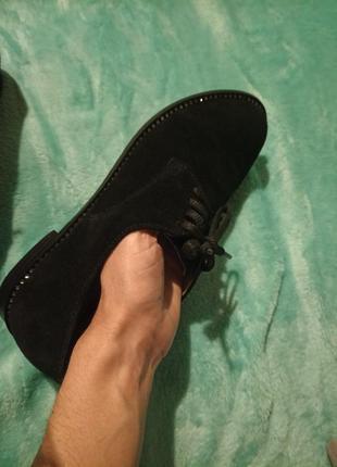 """Туфли на низком ходу,на шнуровке,""""оксфорды"""",замшевые"""