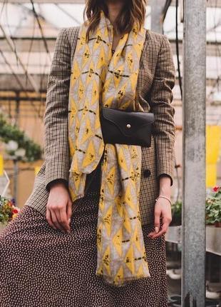 Поясная сумка-клатч молодежная женская на пояс маленькая черная бананка3 фото