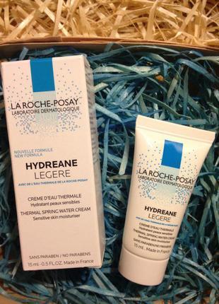 Увлажняющий крем для нормальной, комб. кожи la roche-posay hydreane legere 15 мл!