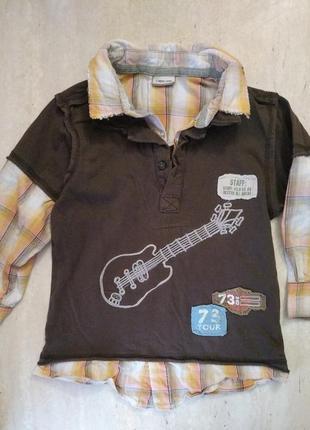 Реглан рубашка cherokee на 2-3 года