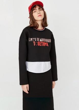 Очень крутой женский костюм юбка+топ only, р. s-m