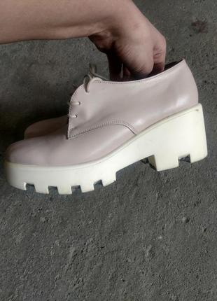 Туфли ботинки кожаные