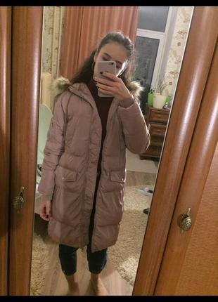 Пуховая курточка, пуховик, дутик, зимняя/весенняя bershka