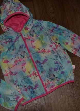 Ветровка для девочки сост отл фламинго