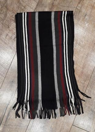 Полосатый легкий мужской шарф