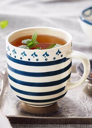 Керамическая чашка с ручной росписью tchibo