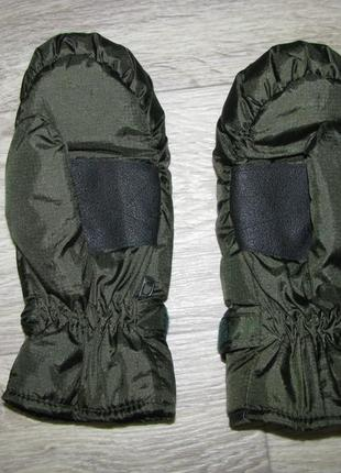 Рукавицы xs-s теплые хаки hema 146-152 см новые