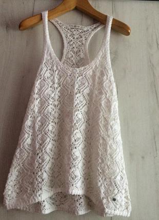 Брендовая ажурная блуза abercrombie &fitch