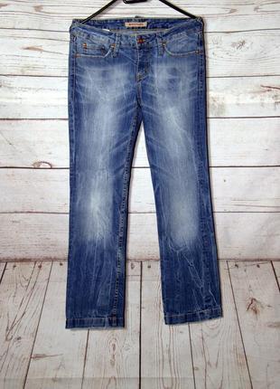 Брендовые прямые  синие джинсы 29/30