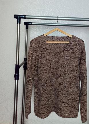 Кофейный свитер oversize