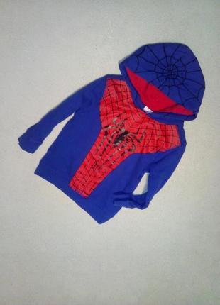 Капюшонка с начесиком человек паук на мальчика 3/4 года