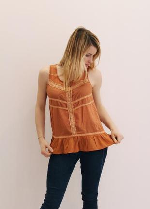 Майка оранжевая jennyfer