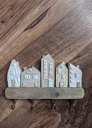 Деревянная ключница , вешалка для ключей