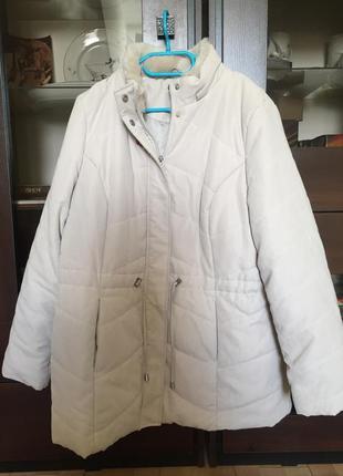 Тёплая куртка ветровка батал marks & spenser