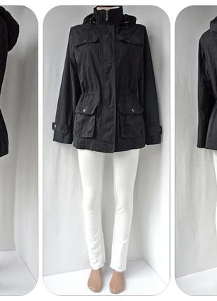 """Классная куртка, парка """"biaggini"""" черного цвета. размер eur38, s/m."""
