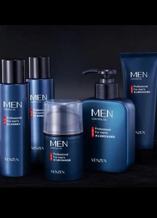 Набор мужской косметики для ухода venzen men, 5 предметов