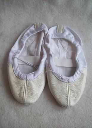 Балетки танцевальные кожаный носок2 фото