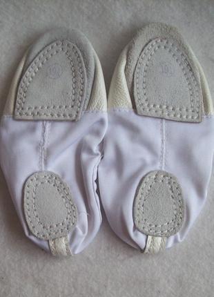 Балетки танцевальные кожаный носок3 фото