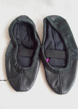 Балетки танцевальные кожаный носок4 фото