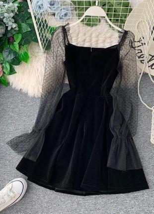 Новое вечернее выпускное чёрное платье