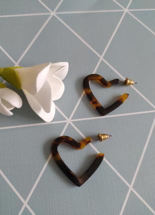 Сережки серце, серьги сердце с сайта asos