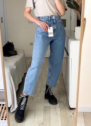 Джинсы zara slouchy jeans