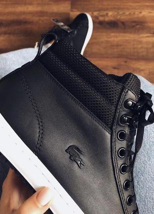 Чёрные кроссовки lacoste 37 {23,5}