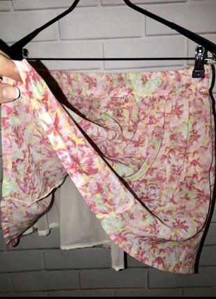 Шифоновая юбка с подкладкой zara
