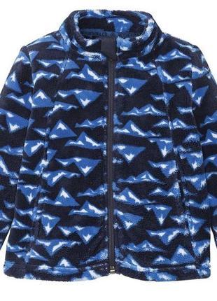Мягкая флисовая кофта/куртка, лупилу р.98-116см