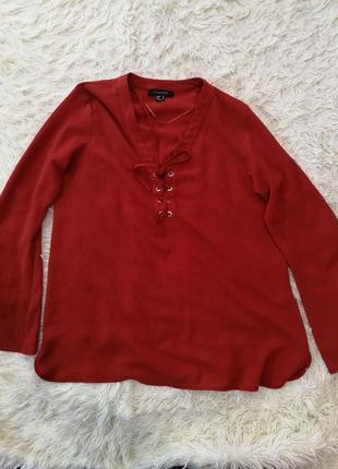 Теракотова блузка