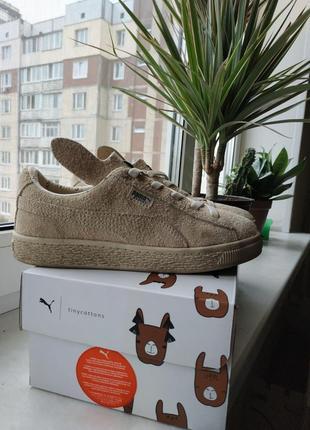 Кроссовки puma x tc basket furry ps  из натуральной замши
