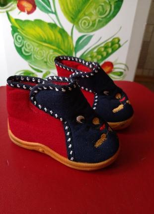 Ботинки, тапочки, туфли 13 см по стельке