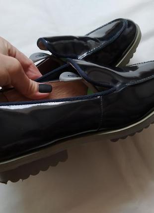 Кожаные туфли мокасины topshop