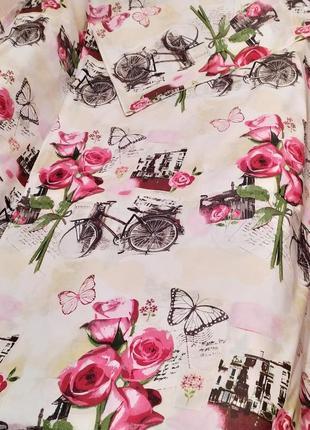 Простыни из бязи -  велосипеды с розами, все размеры, быстрая отправка