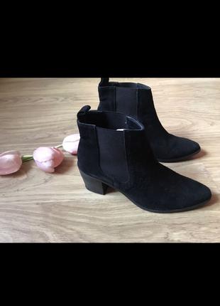 Ботинки черевики натуральний замш