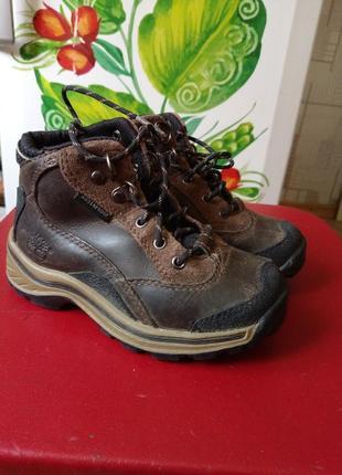 Ботинки демисезонные р.25,5 для мальчика timberland натуральная кожа