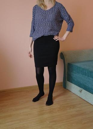 Черная юбка карандаш классика