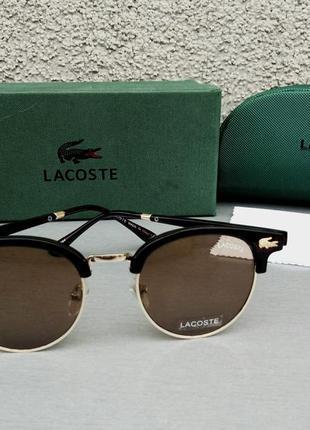 Lacoste очки унисекс солнцезащитные коричневые линзы стекло
