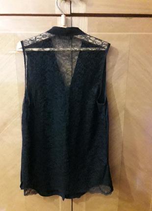 Шифоновая красивая  блуза  с кружевной спинкой