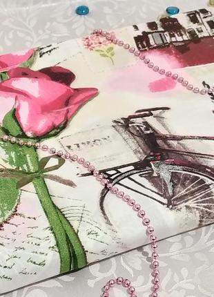Евро пододеяльник - велосипеды и розы, все размеры, быстрая отправка